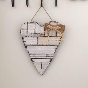 Creative Co-op Wood Heart Wall Plaque